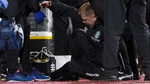 Hearts 0-0 Hibs: Neil Lennon hit by object from crowd in draw