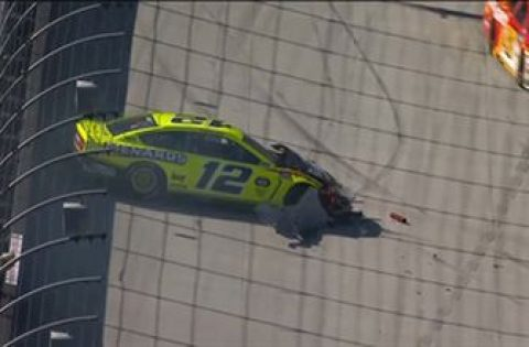 Ryan Blaney taken out after he spins out at the Food City 500