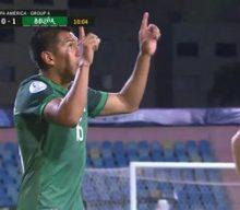 Erwin Saavedra buries penalty shot to put Bolivia up 1-0 on Paraguay