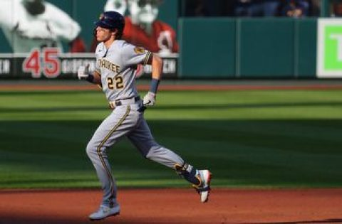 Christian Yelich Christian Yelich belts 12th homer in Brewers 3-0 win over Cardinals