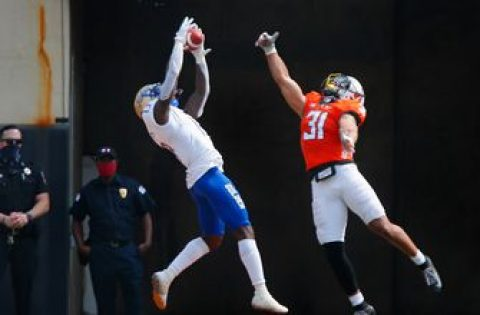 Josh Johnson hauls in second-career touchdown putting Tulsa up 7-3 over Oklahoma State