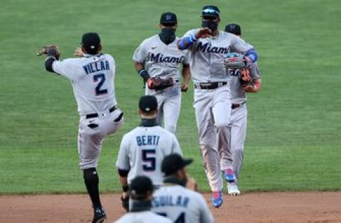 Marlins get second consecutive shutout, beat Orioles 1-0 in first game of doubleheader
