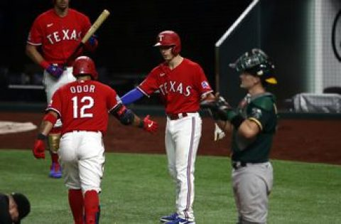 Athletics fail to generate a win as Rougned Odor homers, scoring 3 RBI for Rangers, 5-2