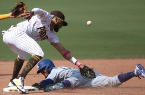 Dodgers clinch postseason berth behind Mookie Betts' three stolen bases in 7-5 win over Padres
