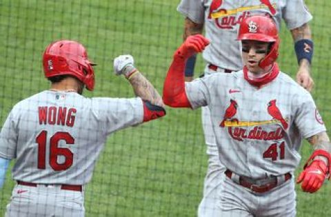 Wong, O'Neill homer as Cardinals hang on for 6-5 Game 1 victory over Pirates