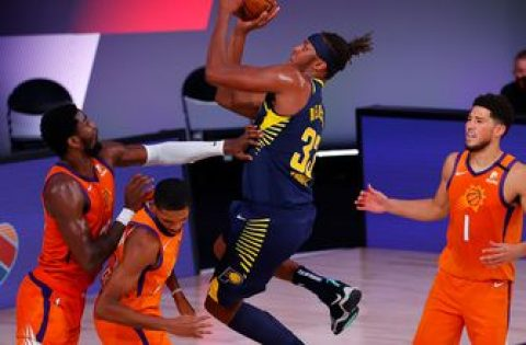 Pacers' undefeated bubble tour stalls out in 114-99 loss to Suns