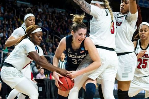 Samuelson carries UConn by Louisville and into Women's Final Four