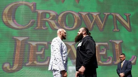 WWE Crown Jewel results: Tyson Fury debut, historic first for WWE women and The Fiend is champ