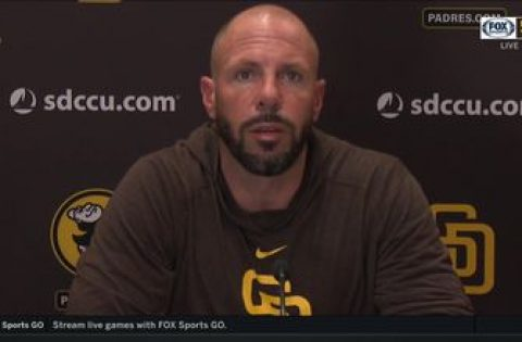 Padres manager Jayce Tingler talks after the series loss