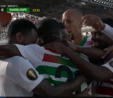 Suriname takes early 1-0 lead vs. Guadeloupe after incredible goal from Gleofilo Vlijter