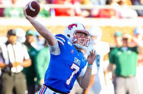 Shane Buechele tosses third touchdown of first quarter as SMU takes 21-0 lead on North Texas
