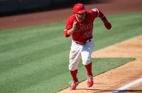 Angels use seven-run fourth inning to blow by Rangers, 8-5