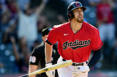 Bradley Zimmer crushes home run off his brother, Kyle, in Indians' 8-3 win over Royals